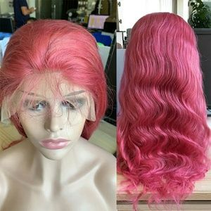 Pink Brazilian Laced Frong Wig